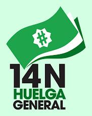 Manifiesto Primavera Andaluza en apoyo de la huelga general del 14N