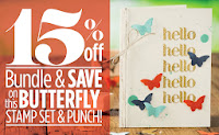 Save 15% on Stampin'up!'s the Butterfly stamp set and Bitty Butterfly punch
