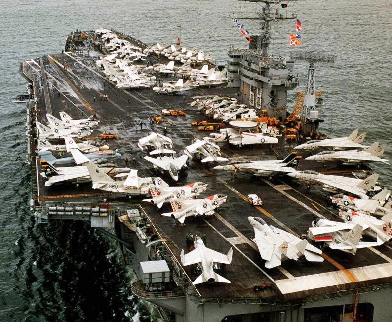 USS Nimitz CVN68 with Air Wing 8 airplanes aboard