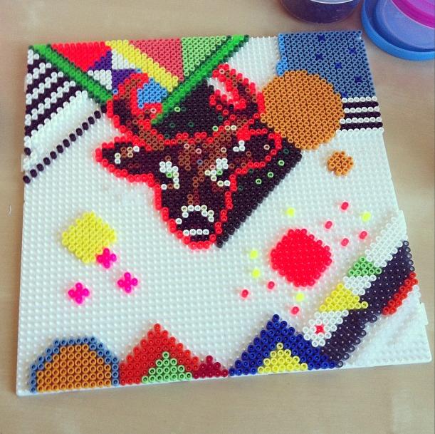 Her er endnu et projekt jeg har lavet med hama perler jeg startede