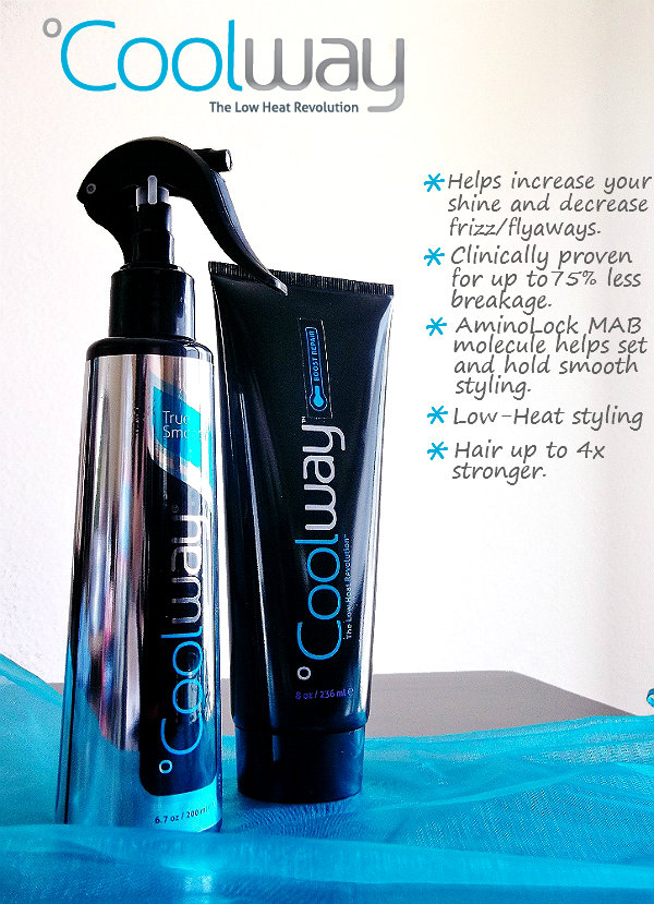 Coolway Products for protecting hair with heat styling. Great for habitual blow dryers and brushers!