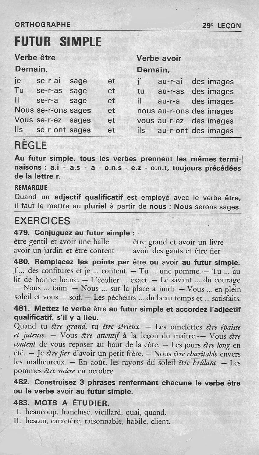 Ecole References 29 A 35 Futur Simple Bled Ce Cm1 Conjugaison