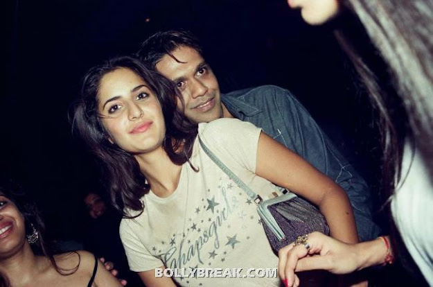 Katrina Kaif Hugged from behind by rocky S - (10) - Katrina Kaif Unseen Private Party Pics from 2004