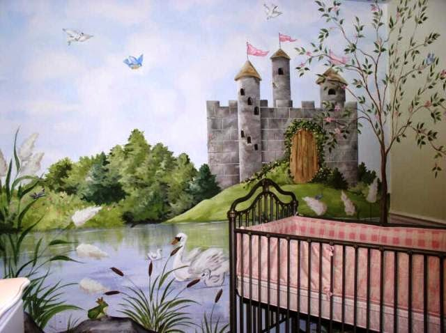 Hand painted wall mural designs for Cn mural designs