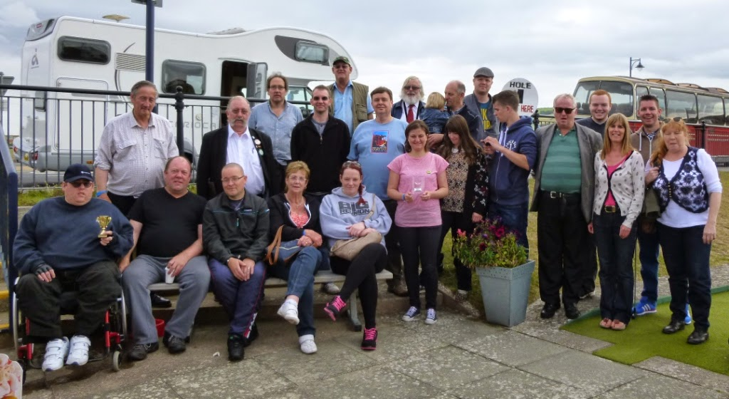 'The Butler Cup' On The Buses Crazy Golf competition in Prestatyn