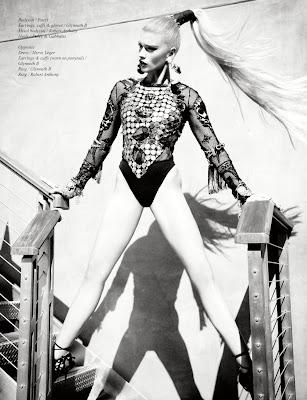 Crystal Renn in Schön! Magazine #17 by Ellen Von Unwerth