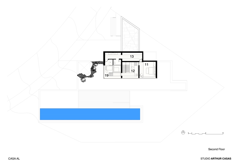 Second floor plan of modern dream home in Rio