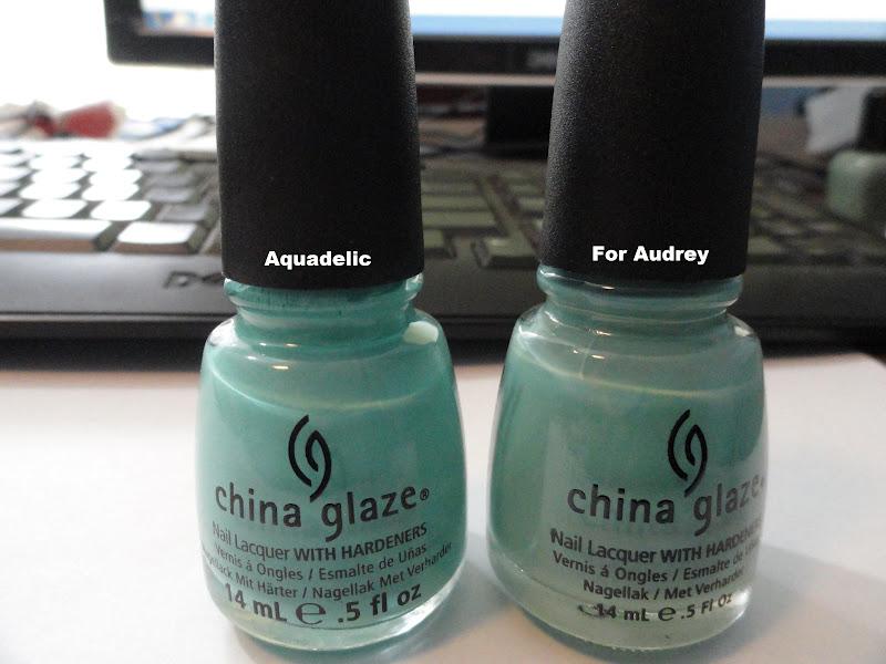 Zoya Bevin Vs Wednesday China Glaze For Audrey vs