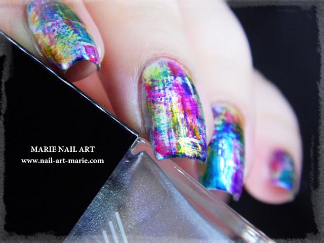 nail art dry brush infinite ombré5