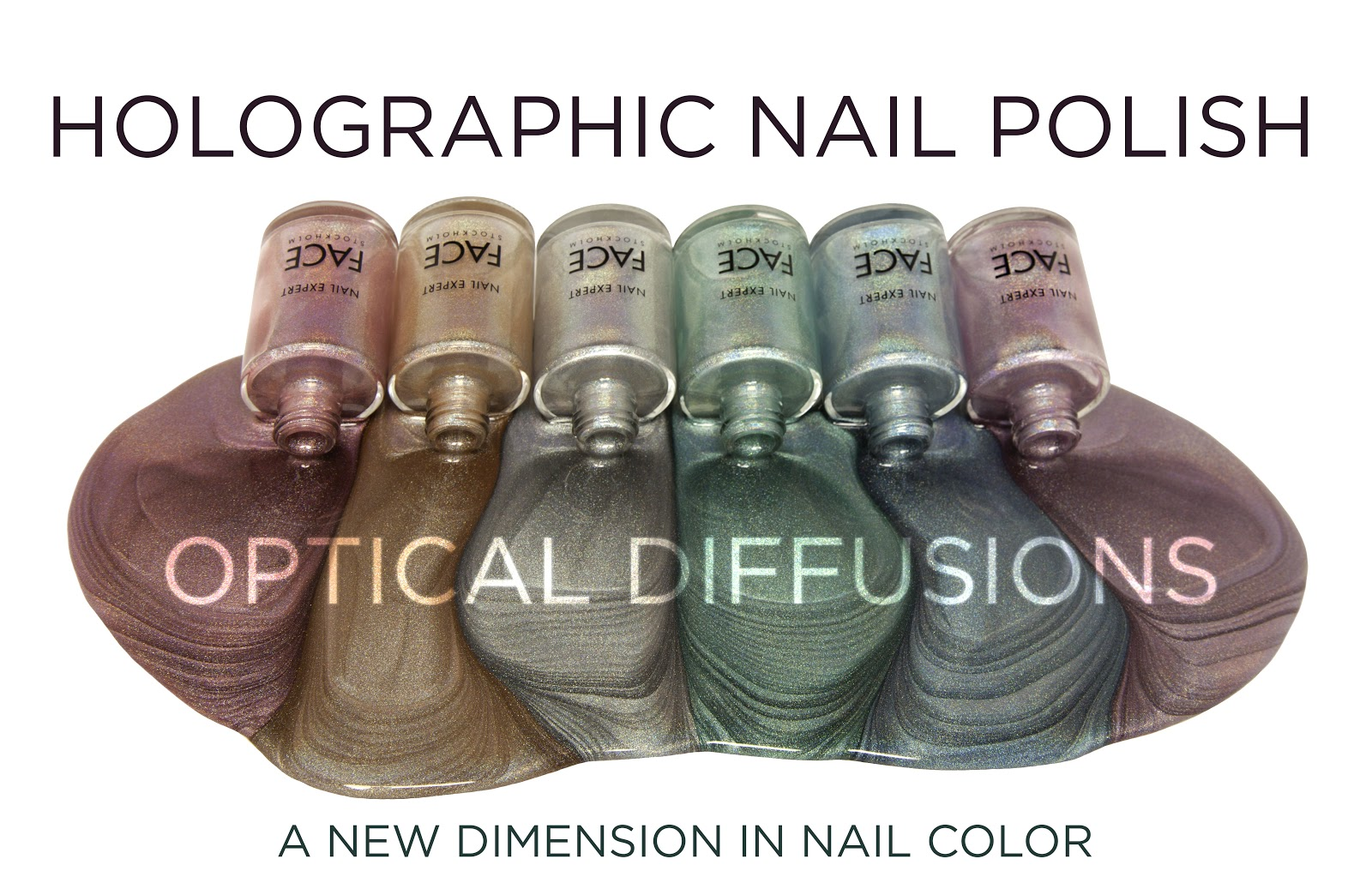 A.M. Polishes: FACE Stockholm Holographic Collection: Thea