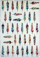 Free pattern!  Feather quilt