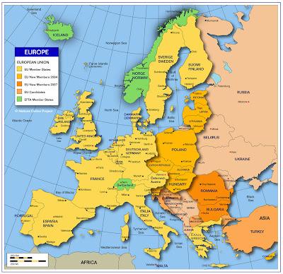 Mapa de Europa País
