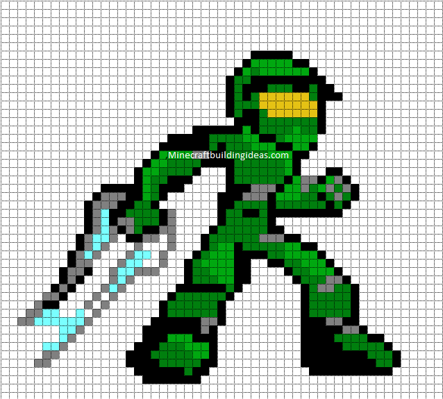 Minecraft Pixel Art Templates Master Chief – Minecraft Pixel Art Template