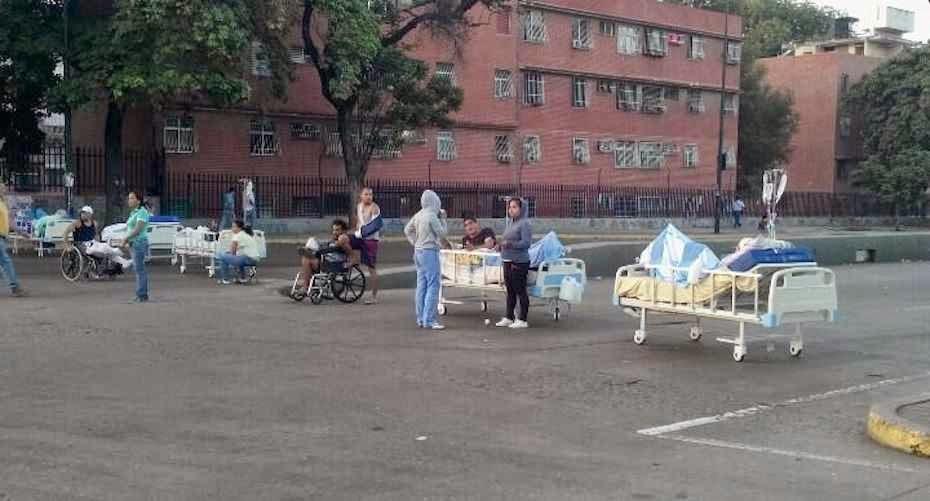 Pacientes do Hospital de Coche protestam pela falta de insumos