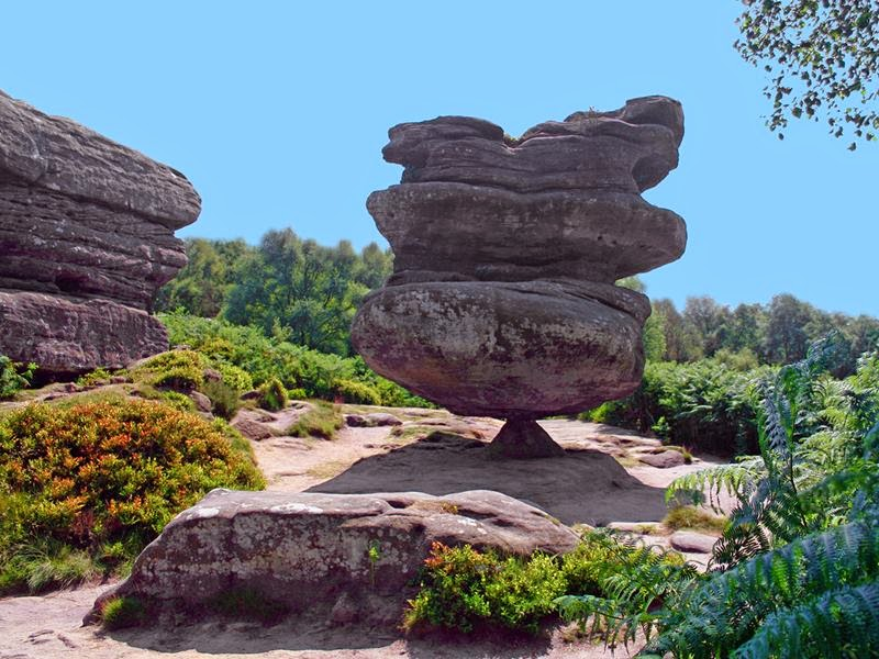 The Idol Rock - 200-ton monolith, balancing on a small pyramid-shaped base.