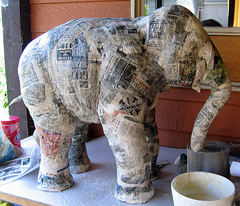 patent pending projects paper mache elephant project