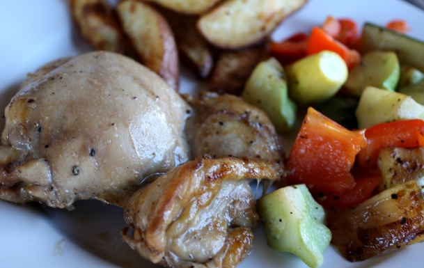 Oven Baked Marinated Chicken Thighs recipe by Barefeet In The Kitchen