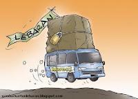karikatur gambar lebaran