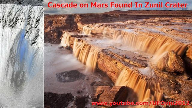 Cascade sur Mars Trouvé Dans le cratère Zunil