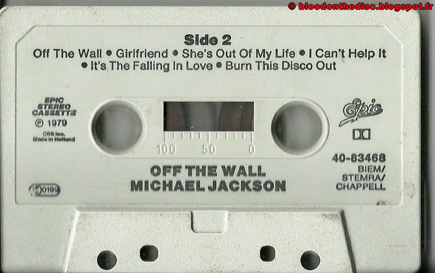 Off The Wall K7 Side 02