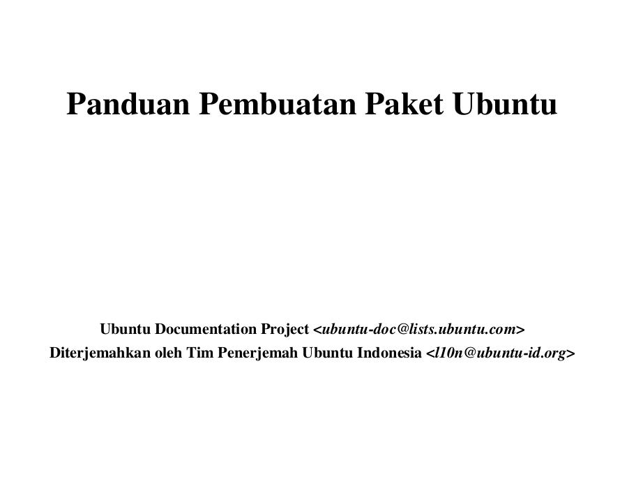 Ebook: Panduan membuat paket aplikasi Ubuntu