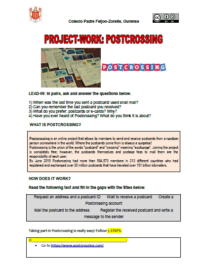 A worksheet for students