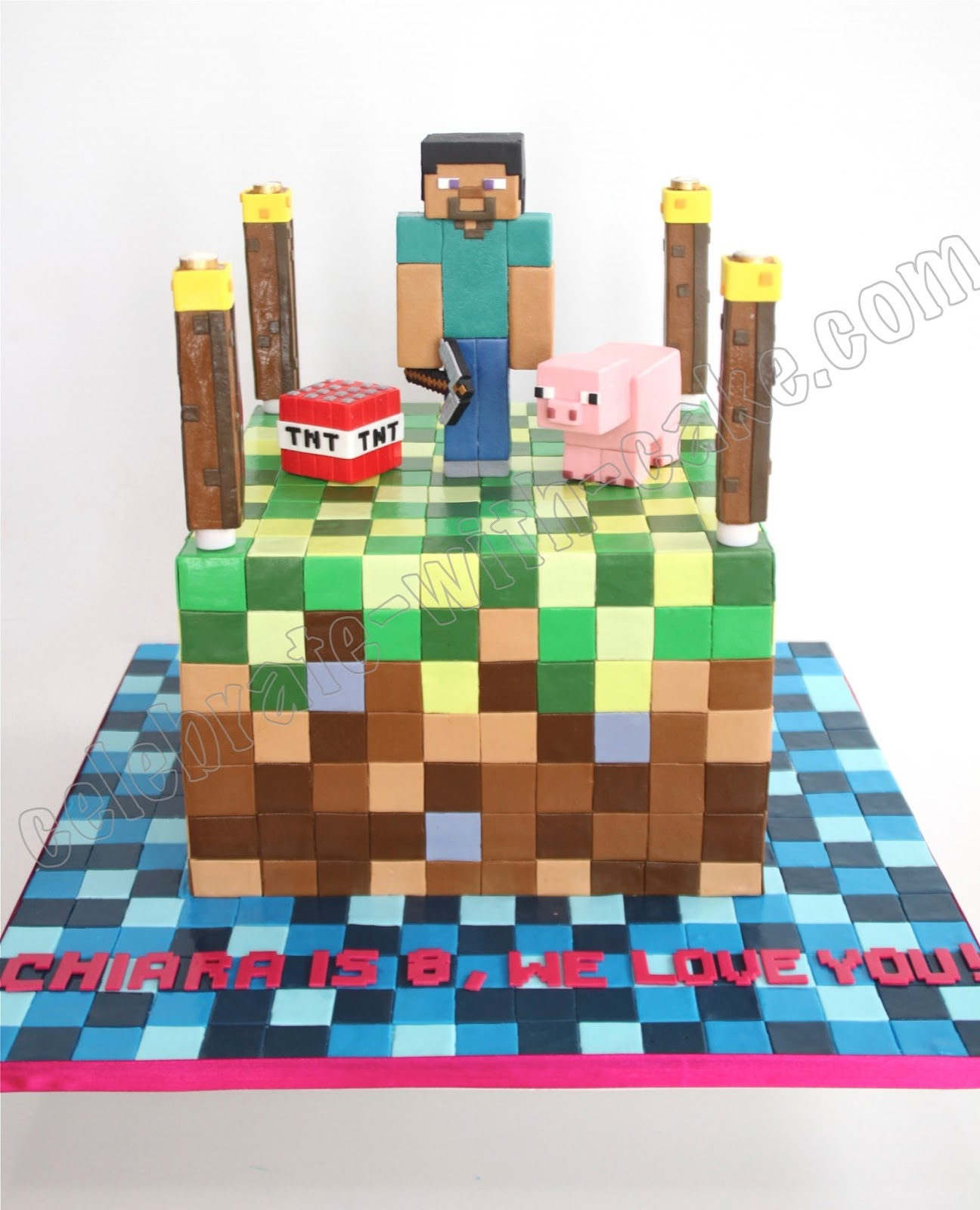 Celebrate with Cake Minecraft Cake