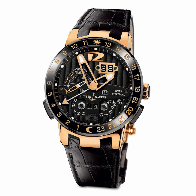 Ulysse Nardin Black Toro Automatic Watch leather