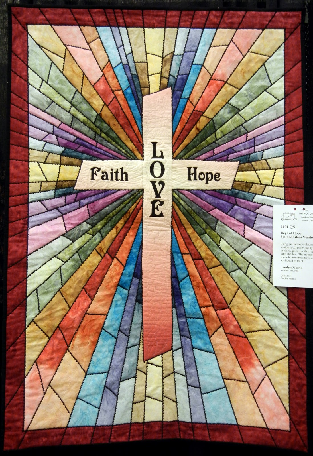 Quilt Inspiration Faith Hope And Love