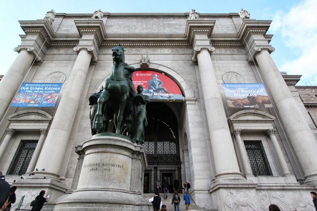The main front entrance of American Museum Natural History in New York City, USA