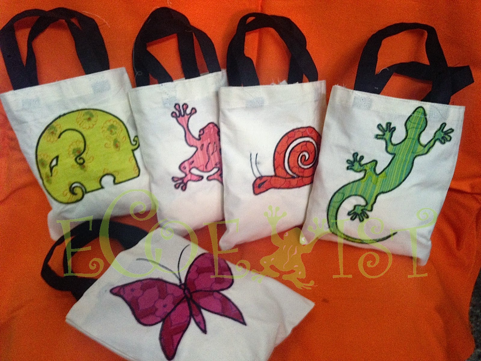 Gift applique bags the usemeagain cloth bags from ecoexist
