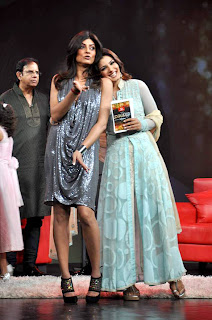 Actress Sushmita Sen & John at Raveena's chat show for NDTV Channel