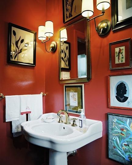 Decorar Un Baño Con Cuadros:Orange Bathroom Design Ideas