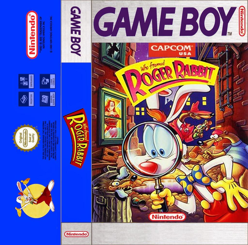 who framed roger rabbit game boy cassette cover and sticker - Who Framed Roger Rabbit Nes