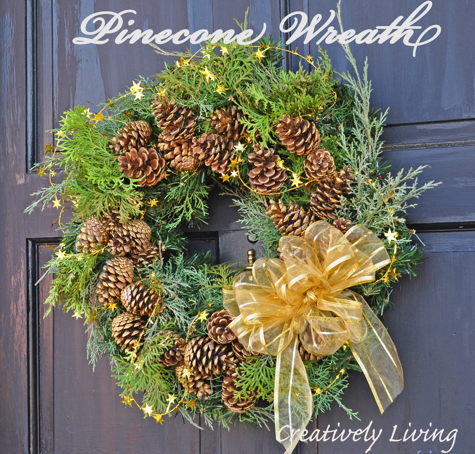 How to make real christmas wreaths -  I Used A Wreath I Had At Home And Already Had The Paint And Glitter If You Had To Purchase Everything I Think You Could Make It For Under 10
