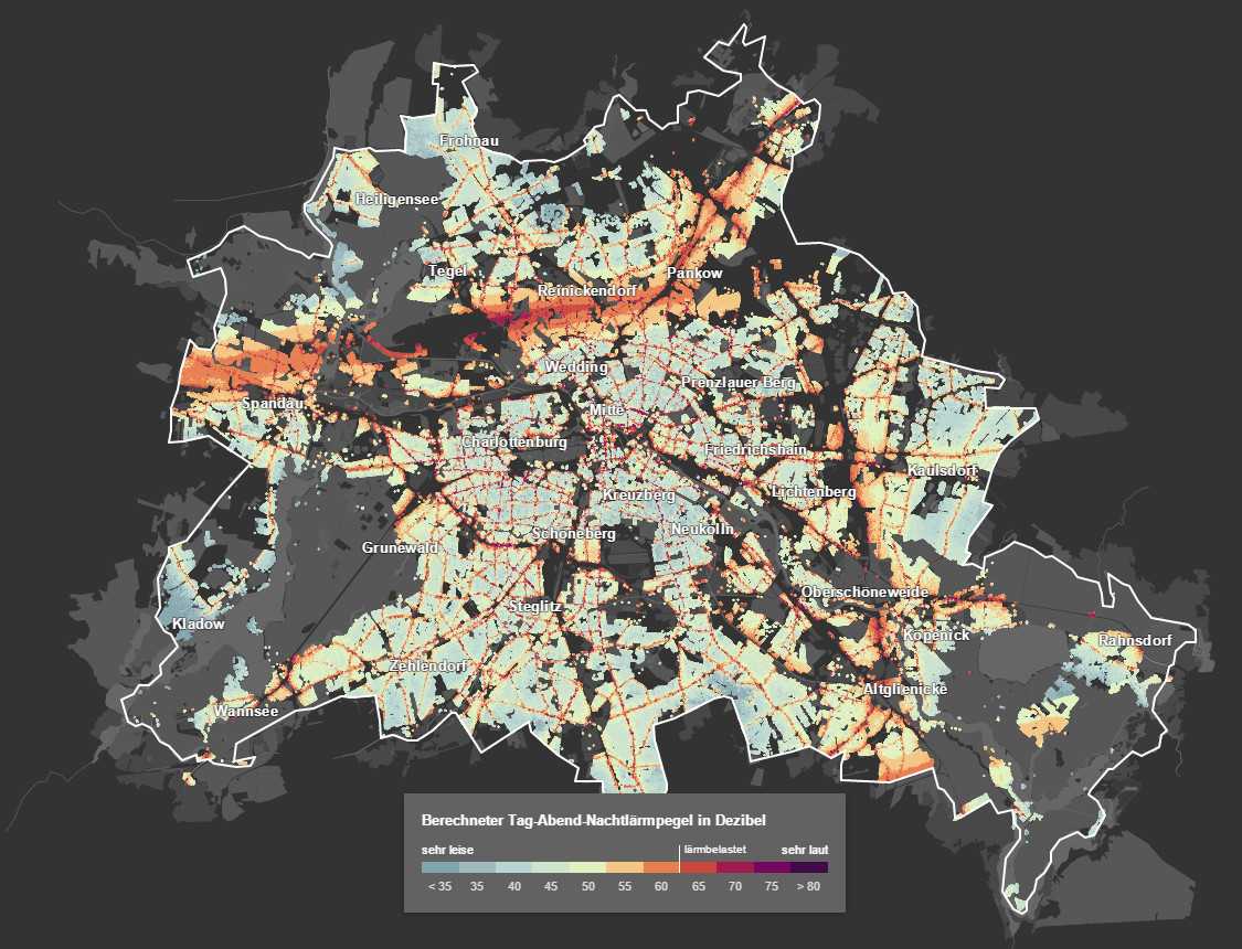 The Berlin noise map