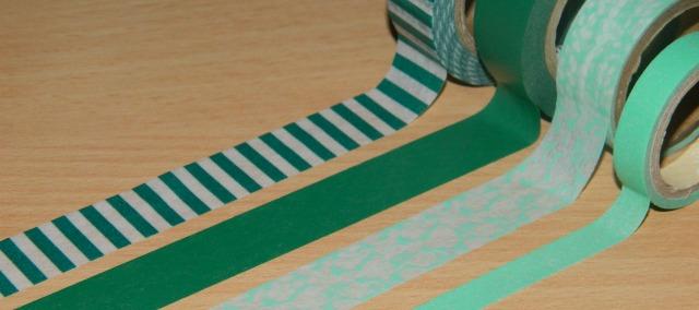 washi tape - green