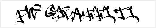 Free Graffiti Fonts - PW Graffiti