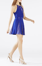 BCBG Blue Lace Dress