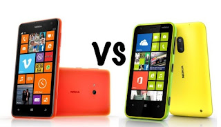 Nokia Lumia 625 vs Lumia 620