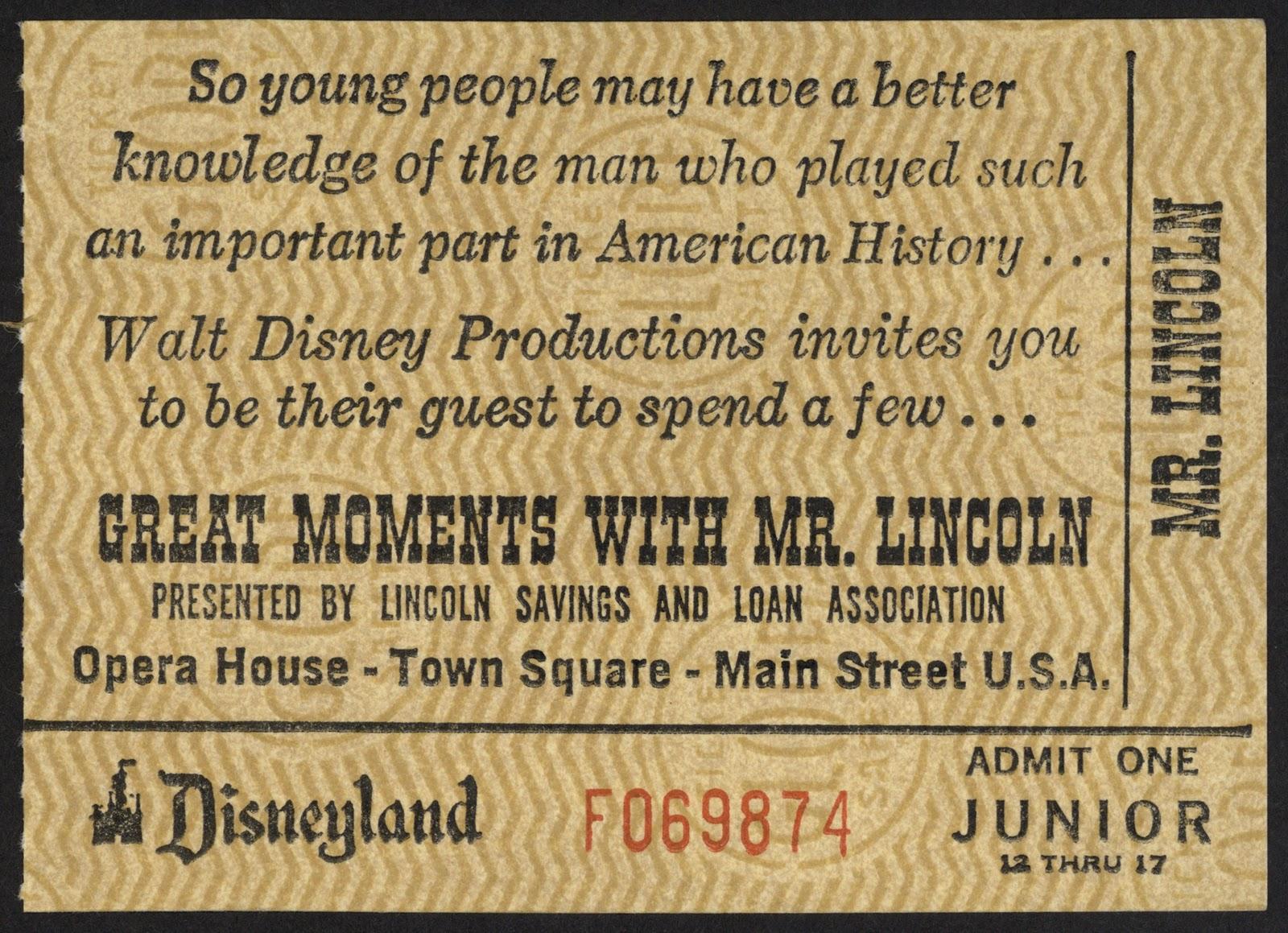 Vintage Disneyland Tickets: \