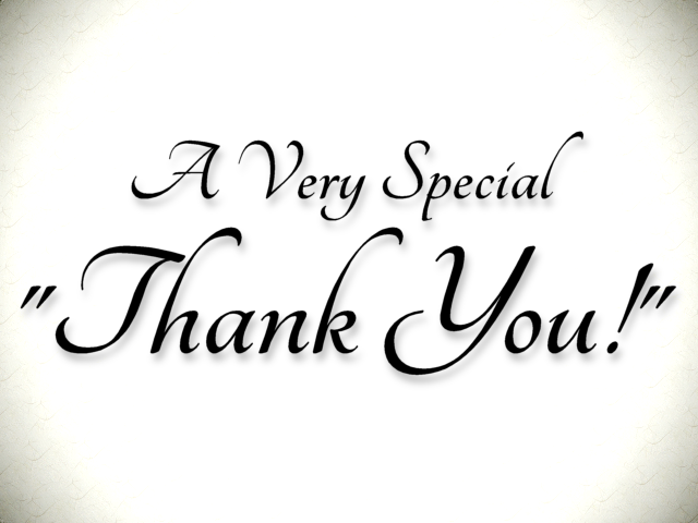 A Very Special Thank You Image