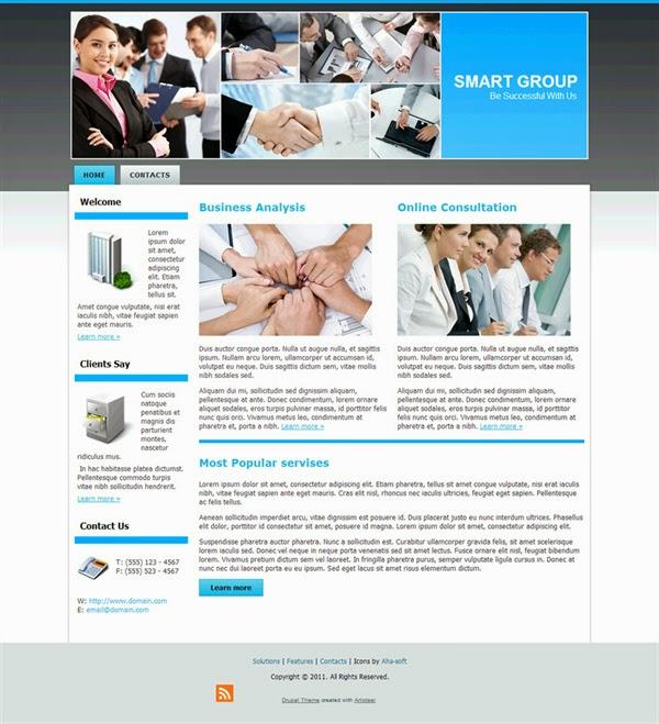 Smart Group - Free Drupal Theme