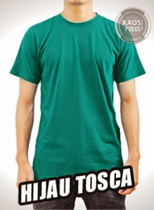 Kaos Polos Hijau Tosca