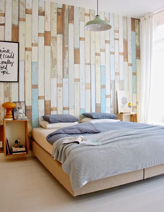 Papel pintado simulando listones de madera scrapwood - Papel de empapelar paredes ...