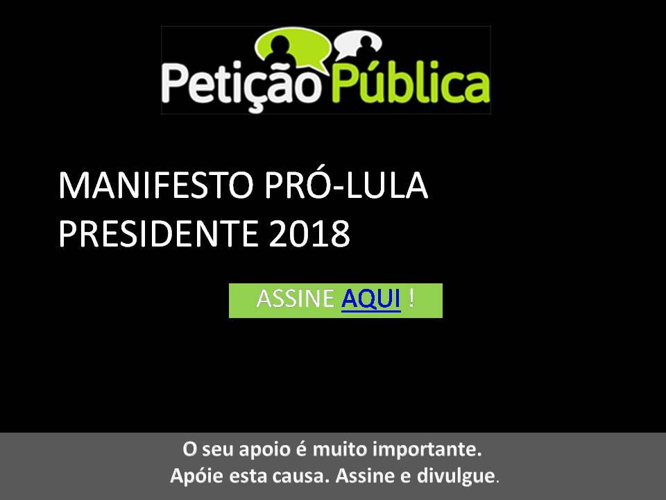 A nossa sociedade não pode retroceder! Lula de novo com a força do povo!!