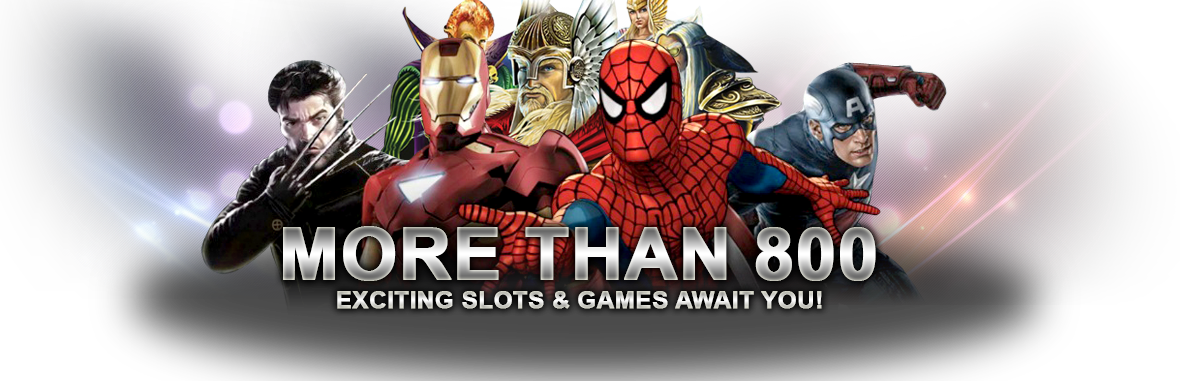 More than 800 exciting Slots & Games await you!