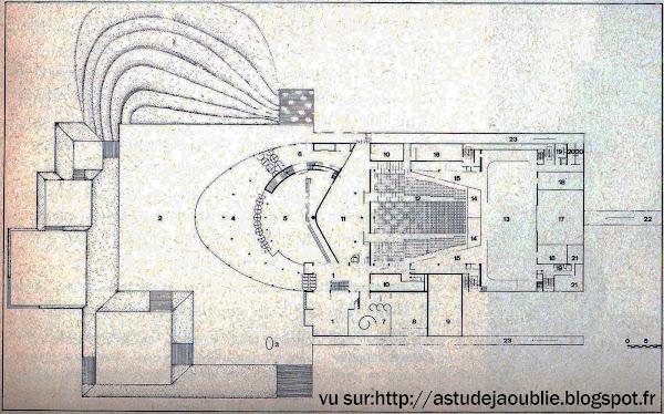 Grenoble - Maison de la Culture - André Wogenscky  Architecte: André Wogenscky  Construction: 1968