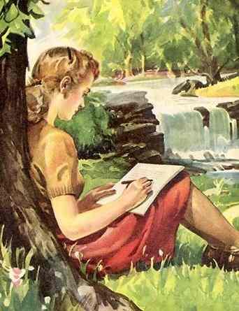 kobieta pisanie
