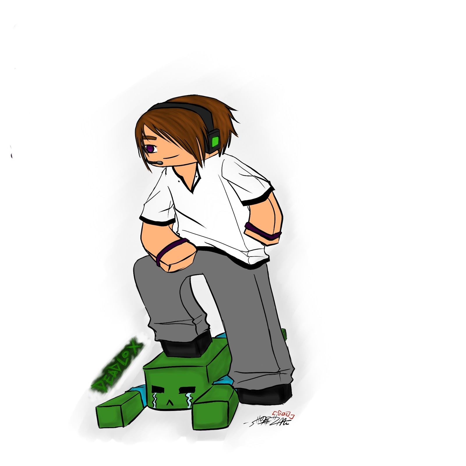 deadlox minecraft coloring pages - photo#36